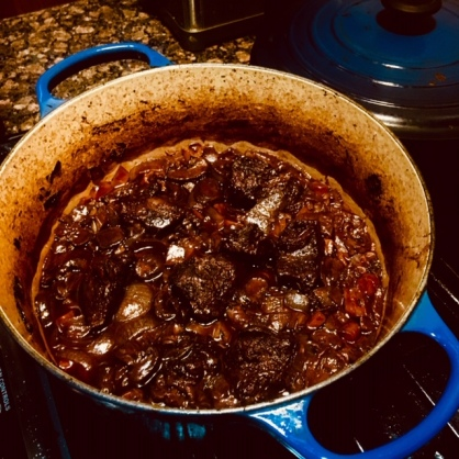 Wine Braised Short Ribs_Cooking